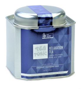 Relaxation Tea Loose Leaf Caddy Tin