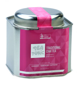 Traditional Chai Tea Loose Leaf Caddy Tin