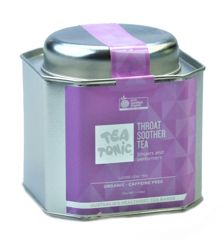 Throat Soother Tea Loose Leaf Caddy Tin