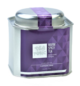 Warm Spice Tea Loose Leaf Caddy Tin
