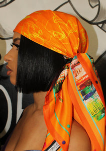 Silk Scarf Orange