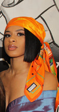 Load image into Gallery viewer, Silk Scarf Orange