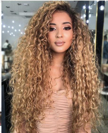 Blonde Wave Curl Long Hair