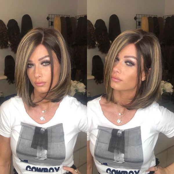 Short And Chic Black Brown Wig