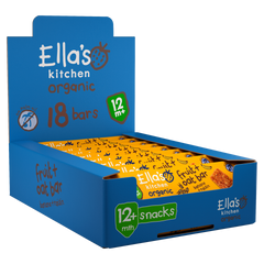 Organic Banana + Raisin Fruit + Oat Bar Snacks 12+ Months 18 x 25 g