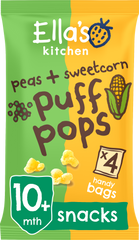 Peas + Sweetcorn Puff pops