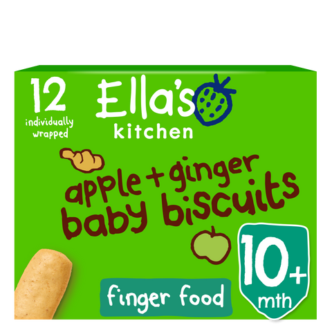 apple + ginger baby biscuits
