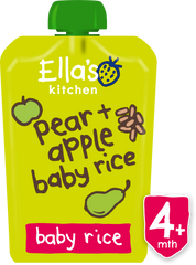 pear + apple baby rice