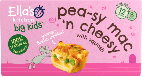 Pea-sy mac 'n cheesy