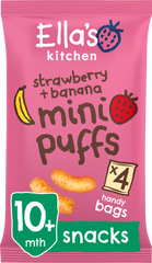 Strawberry and banana mini puffs