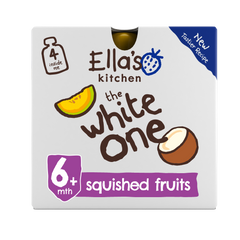 Organic The White One Smoothie Baby Pouch 6+ Months 4 x 90g