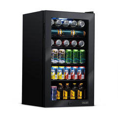 NewAir 126 Can Freestanding Beverage Fridge in Stainless Steel AB-1200B
