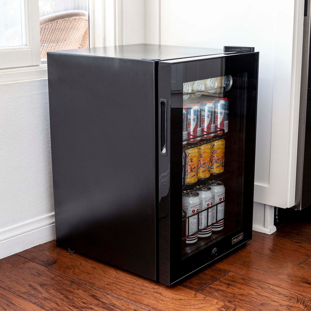 NewAir 90-Can Freestanding Beverage Fridge in Onyx Black