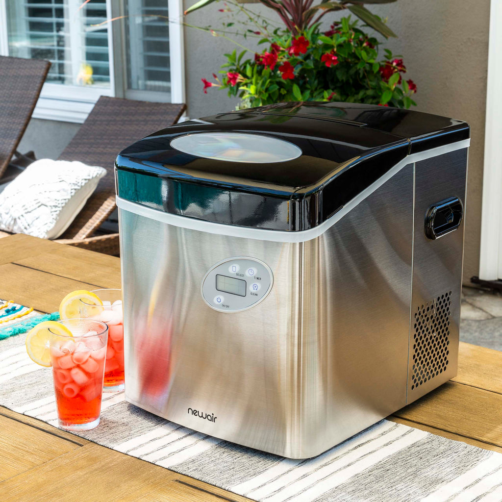 NewAir Countertop Ice Maker, 50 lbs. of Ice a Day, 3 Ice Sizes