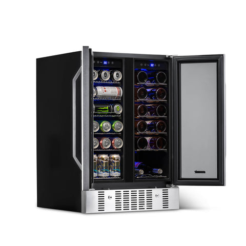 NewAir Two-Door 24-Inch Beverage and Wine Cooler Combo