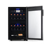 Image of NewAir Freestanding 28 Bottle Dual Zone Wine Fridge in Stainless Steel