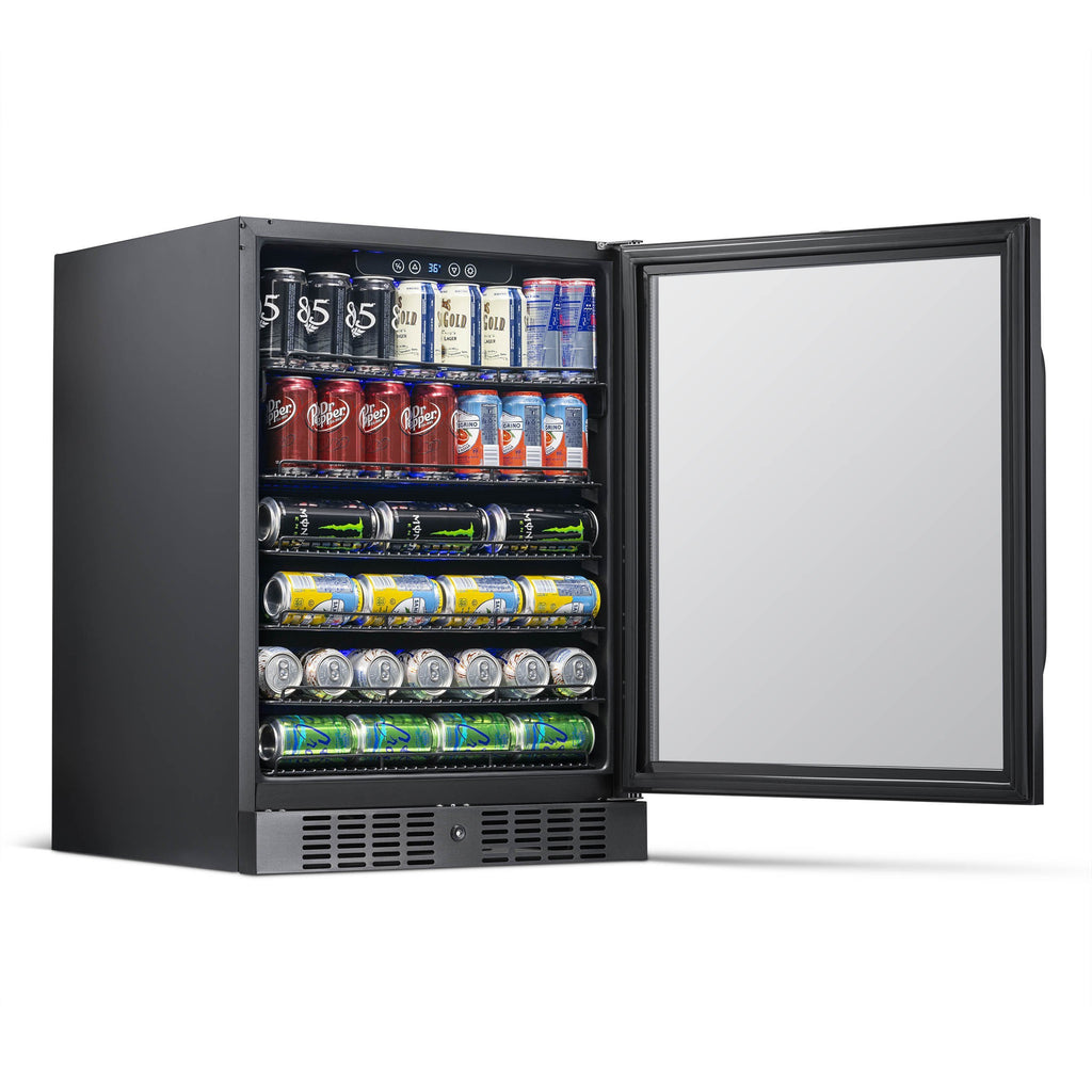 NewAir 24-Inch Black Stainless Beverage Cooler