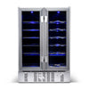 Image of NewAir Two-Door 24-Inch Beverage and Wine Cooler Combo