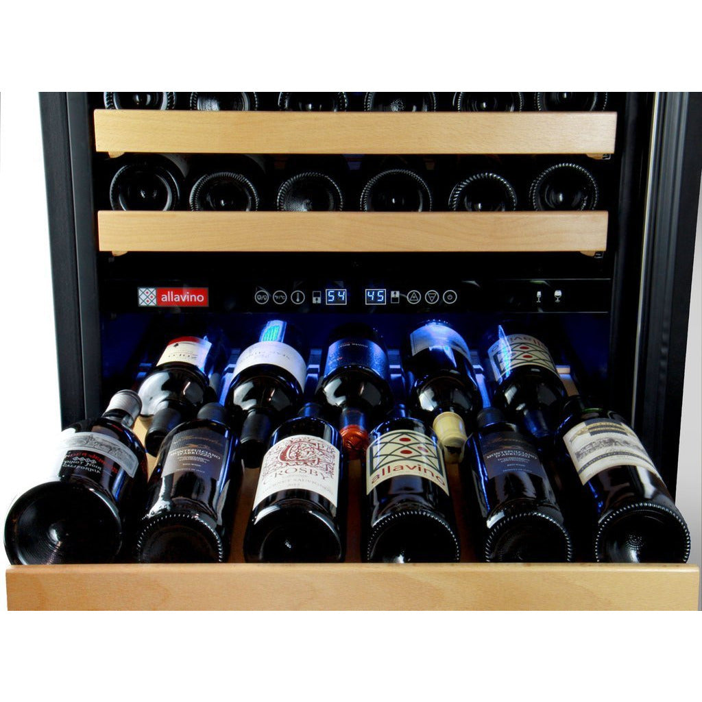 Allavino Stainless 172-Bottle Dual Zone Wine Fridge