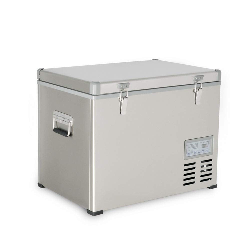 Kalamera 1.6 Cu. ft 40 Quart Portable Refrigerator/Freezer Stainless-steel AC 110V / DC 12/24V