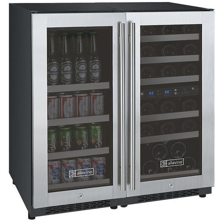 Allavino Tripple Zone Stainless 30-Inch Beverage Center
