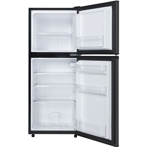 4.7 CuFt. Refrig, Independant Freezer Section, Interion Light - Black Stainless