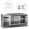 Image of King Bottle Double Glass Back Bar Cooler for Multiple Bottles 59 Inch