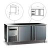King Bottle Two Stainless Steel Door Back Bar Cooler 59 Inch