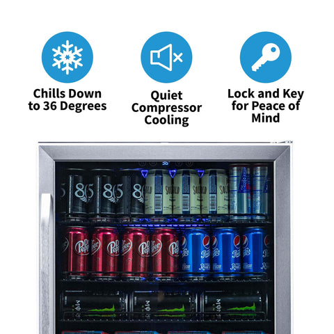 NewAir 24-Inch Stainless Beverage Cooler