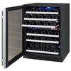 Image of Allavino Wide FlexCount 56-Bottle Dual Zone Stainless Steel Left Hinge 24 Inch