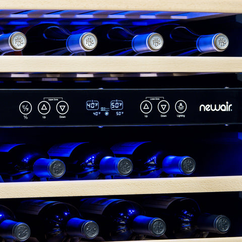NewAir 46-Bottle Beverage and Wine Cooler Combo