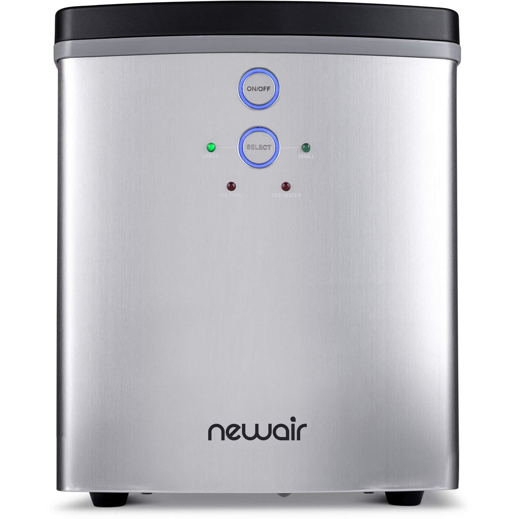 NewAir NIM033SS00 33 lb 2 Ice Size Bullets Daily Portable Countertop Ice Maker Stainless Steel