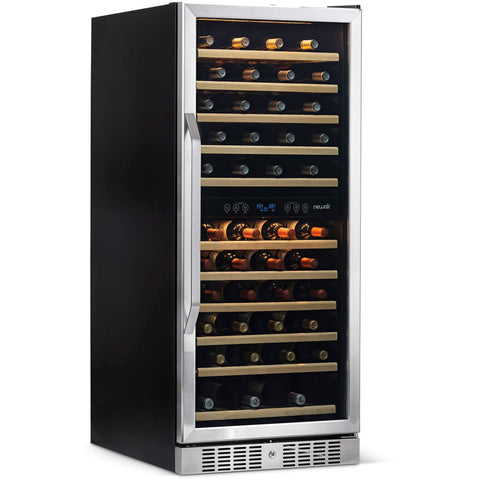 NewAir AWR-1160DB 116 Bottle Capacity Wine Cooler & Refrigerator Built In Dual Zone Stainless Steel