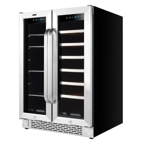Whynter 24-Inch Beverage and Wine Cooler Combo