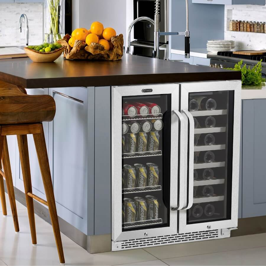 Whynter 30-Inch Beverage and Wine Cooler Combo