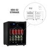 Image of King Bottle 75 Can Compressor Mini Bar Fridge (Black)