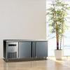 Image of King Bottle Two Stainless Steel Door Back Bar Cooler 59 Inch