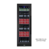 Image of King Bottle Beverage Refrigerator With Clear Glass Door 72 Inch