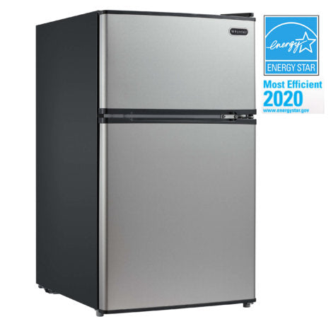 Whynter 3.4 cu.ft. Energy Star Stainless Steel Compact Refrigerator/Freezer