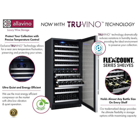Allavino RH 121-Bottle Dual Zone Wine Fridge