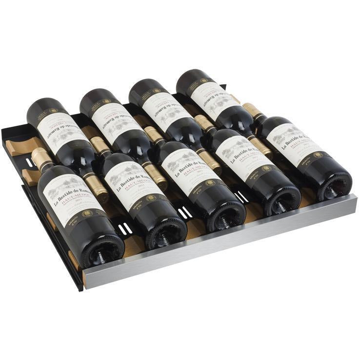 Allavino Stainless LH 50-Bottle Dual Zone Wine Cooler