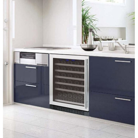 Allavino II Stainless LH 50-Bottle Single Zone Wine Cooler
