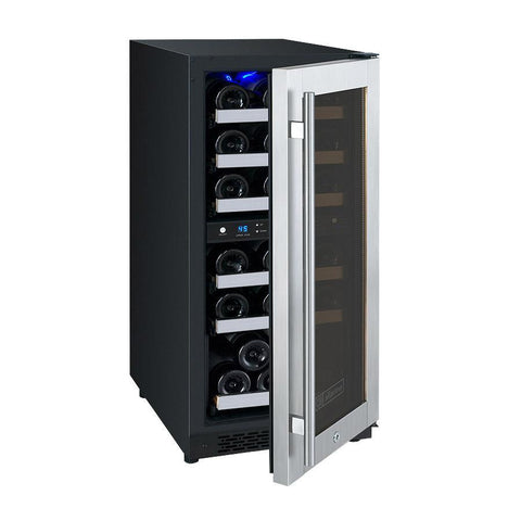 Allavino 30-Bottle Dual Zone Wine Cooler Stainless Steel