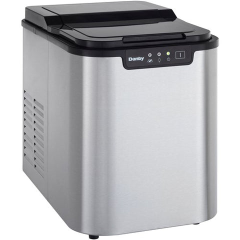 """ Portable Ice Maker, LED Display, Stores Approximately 150 Ice Cubes - Stainless"""