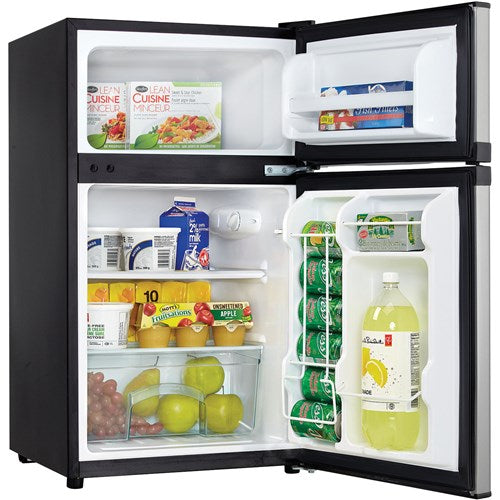 3.1 CuFt. Refrig, Independant Freezer Section, Interion Light - Black/Stainless