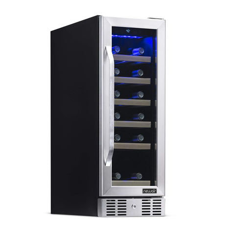 NewAir AWR-190SB 19-Bottle Compact Wine Refrigerator, Stainless Steel