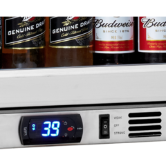 Kings Bottle Stainless 24-Inch Back Bar Cooler with Glass Door
