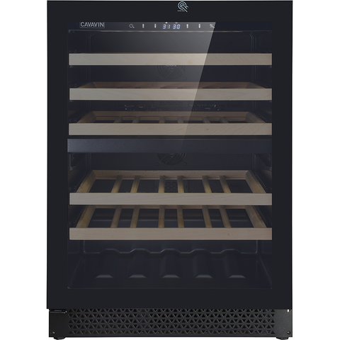 "Cavavin V-041WDZFG Dual Zone 24"" Wine Cellar Black Glass"