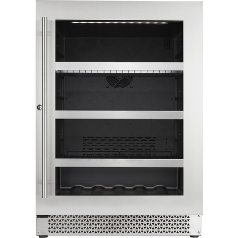 "Cavavin V-050BVC Single Zone 24"" Wine Beverage Center Stainless Steel"