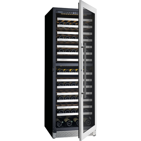 "Cavavin V-153WDZ 153 bottle Dual Zone 24"" Wine Cellar Stainless Steel"